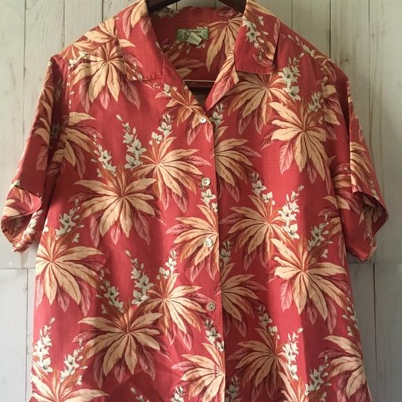 13ff7045 Tommy Bahama Tops   Short Sleeve Womens Hawaiian Shirt   Poshmark